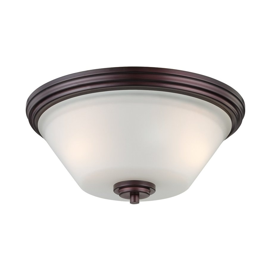 Thomas Lighting Pittman 14-in W Sienna Bronze Ceiling Flush Mount Light