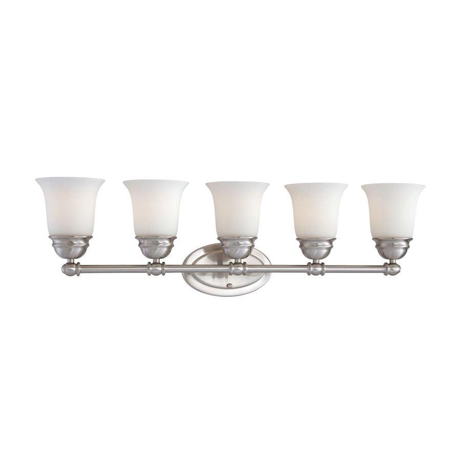 Thomas Lighting Bella 5-Light 9-in Brushed Nickel Bell Vanity Light