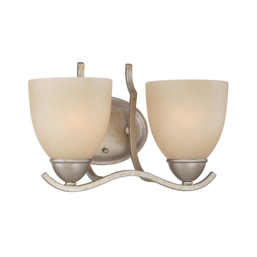 Thomas Lighting Triton 2-Light 8.5-in Moonlight Silver Bell Vanity Light