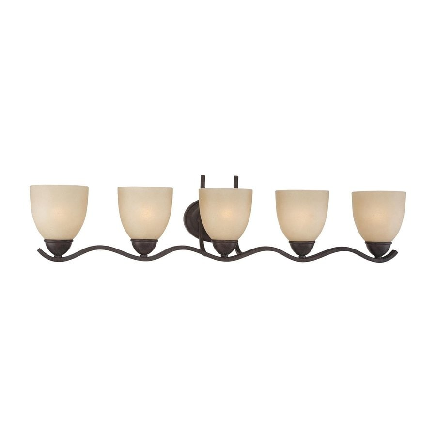 Thomas Lighting Triton 5-Light 8.5-in Sable Bronze Bell Vanity Light