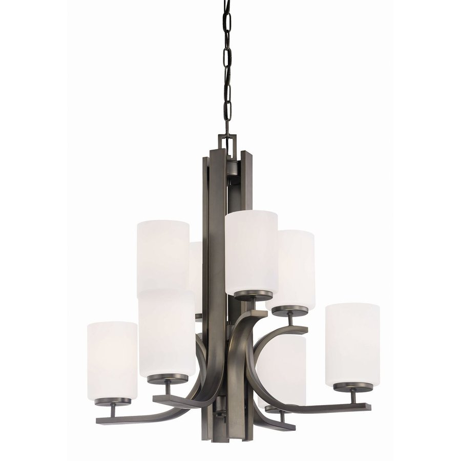 Thomas Lighting Pendenza 26.5-in 8-Light Oiled Bronze Tiered Chandelier