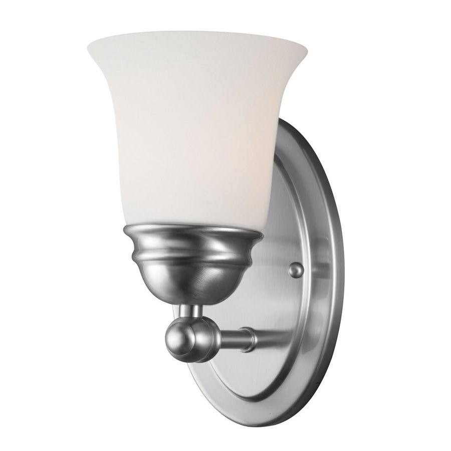 Thomas Lighting Bella 4.5-in W 1-Light Brushed Nickel Arm Hardwired Wall Sconce
