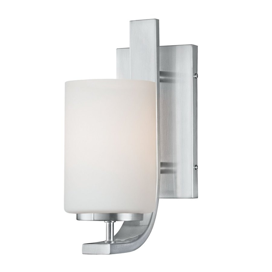 Thomas Lighting Pendenza 4.5-in W 1-Light Brushed Nickel Arm Hardwired Wall Sconce