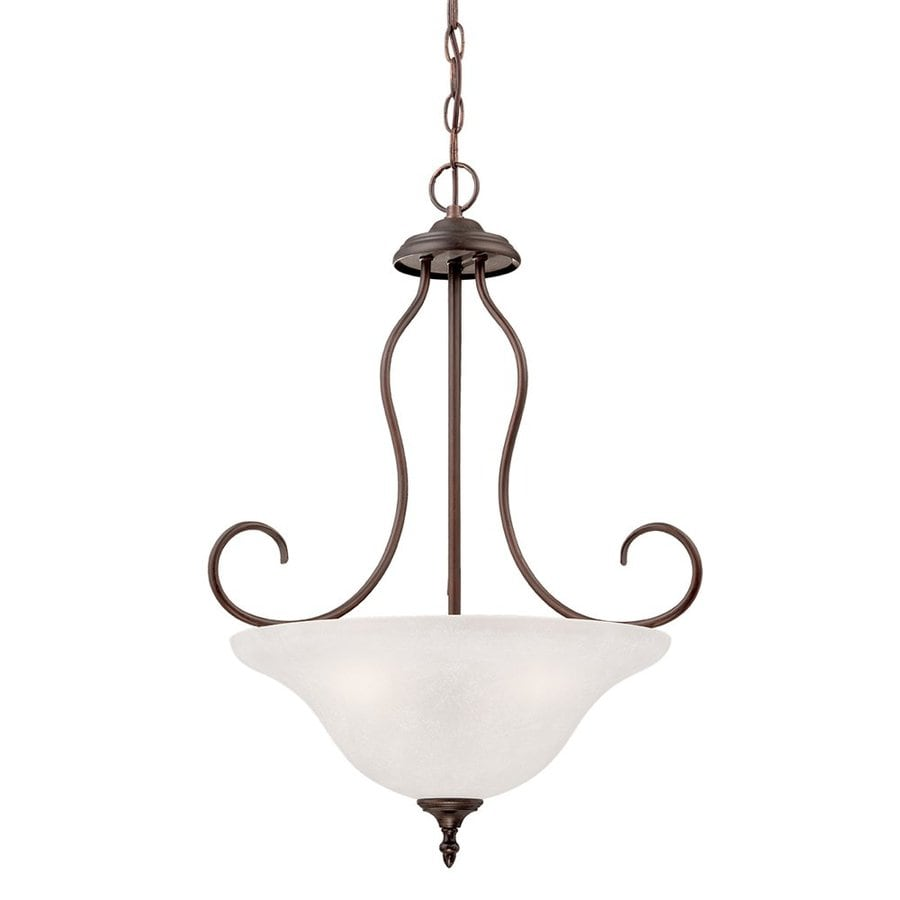 Millennium Lighting Cleveland 26.38-in Rubbed Bronze Vintage Single Bowl Pendant