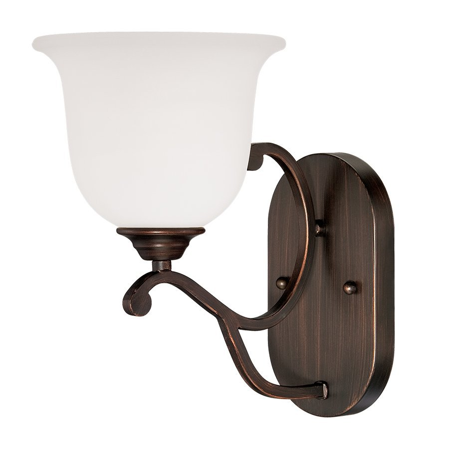 Millennium Lighting Courtney Lakes 7-in W 1-Light Rubbed Bronze Arm Wall Sconce