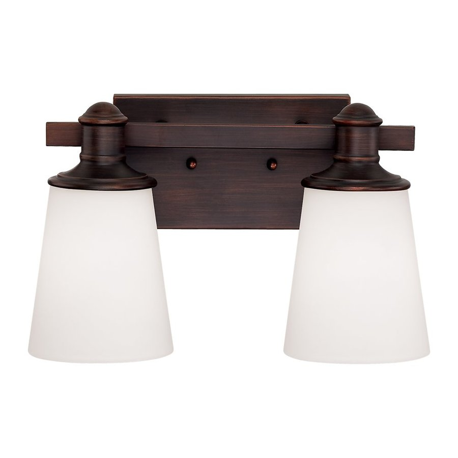 Millennium Lighting Cimmaron 2-Light 8-in Rubbed Bronze Cone Vanity Light