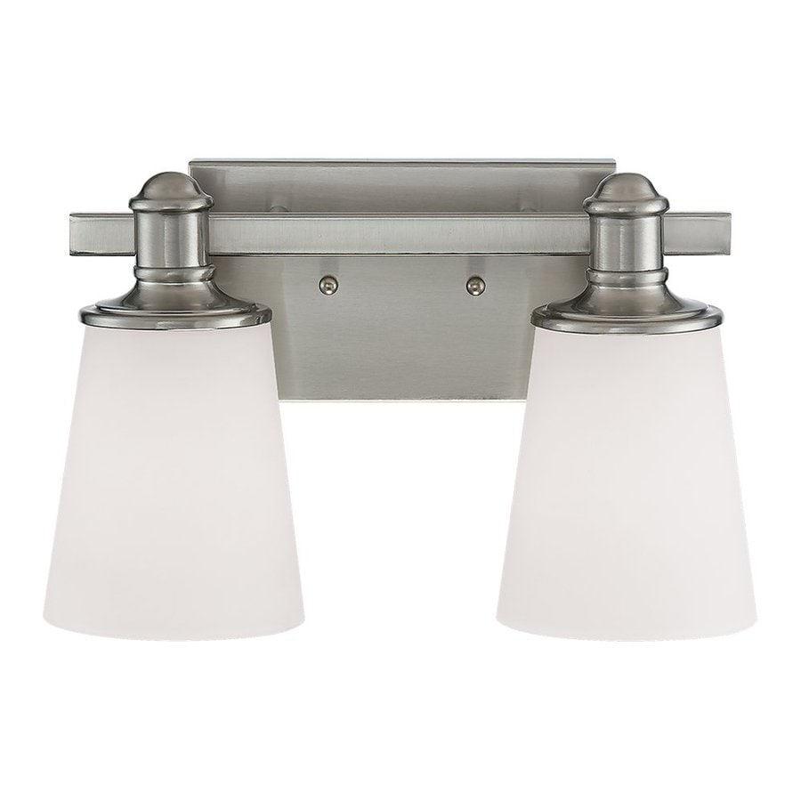 Millennium Lighting Cimmaron 2-Light 8-in Satin Nickel Cone Vanity Light
