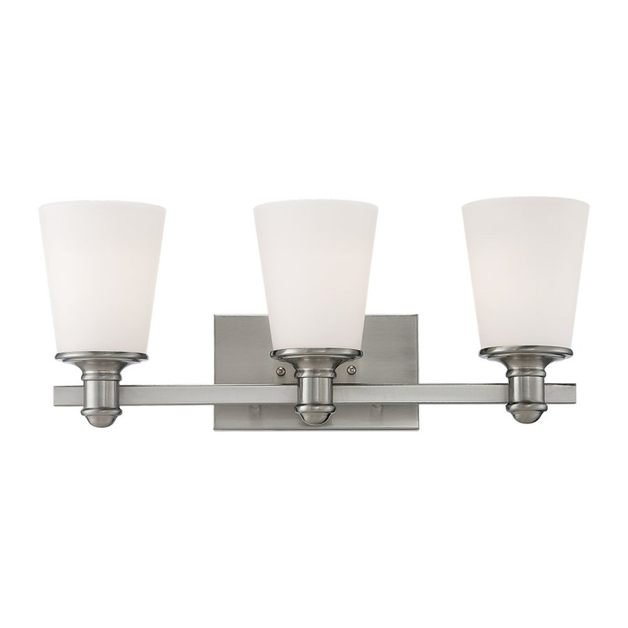 Millennium Lighting Cimmaron 3-Light 8-in Satin Nickel Cone Vanity Light