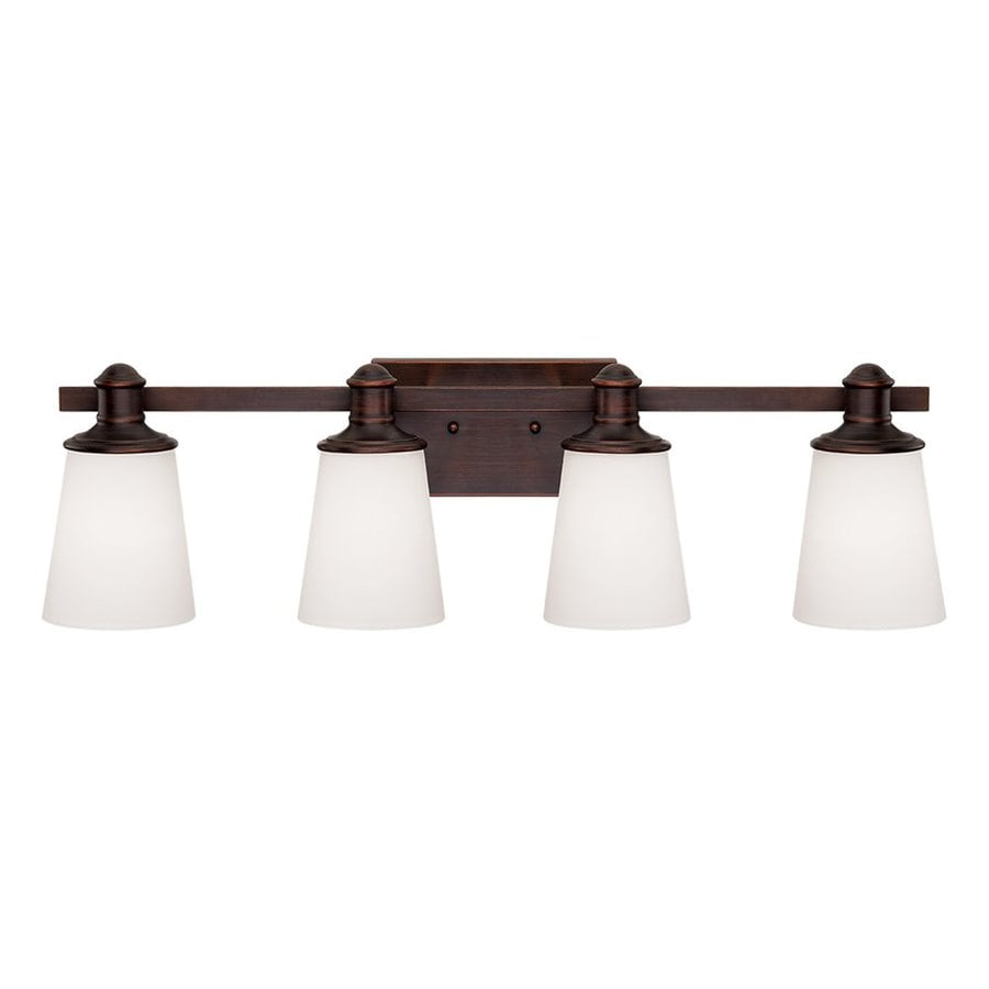 Shop Millennium Lighting Cimmaron 4 Light 8 In Rubbed Bronze Cone Vanity Light At