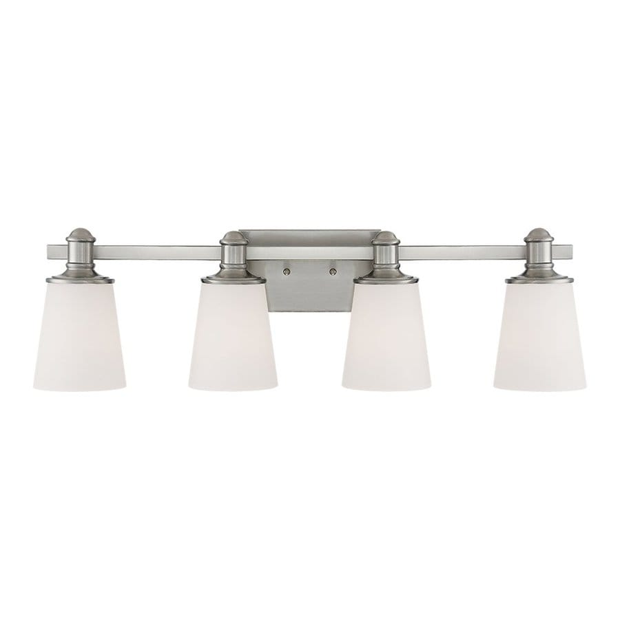 Millennium Lighting Cimmaron 4-Light 8-in Satin Nickel Cone Vanity Light