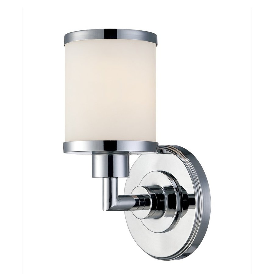 Millennium Lighting 1-Light 10-in Chrome Cylinder Vanity Light