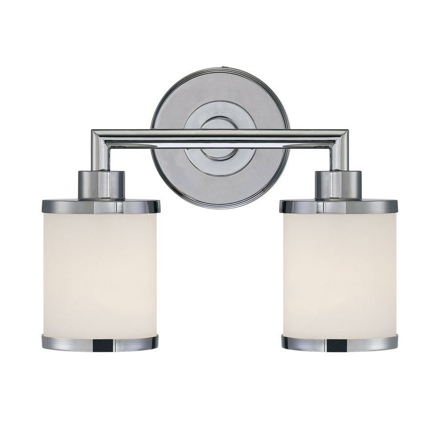 Millennium Lighting 2-Light 10.5-in Chrome Cylinder Vanity Light