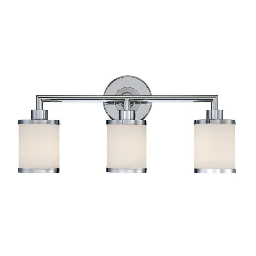 Millennium Lighting 3-Light 10.5-in Chrome Cylinder Vanity Light