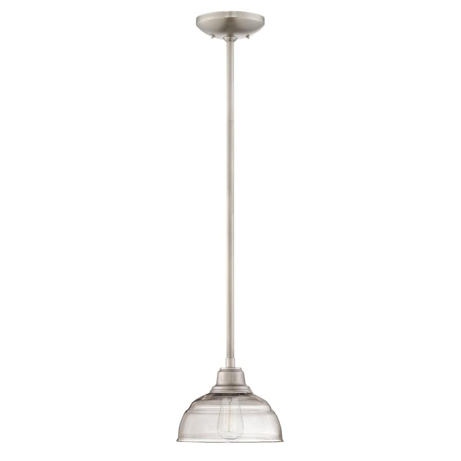 Shop millennium lighting neo industrial 8 in nickel industrial mini millennium lighting neo industrial 8 in nickel industrial mini clear glass dome pendant aloadofball
