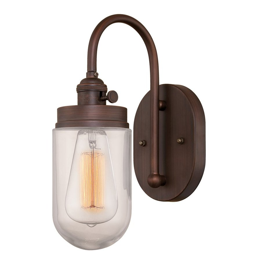 Millennium Lighting Neo-Industrial 7-in W 1-Light Rubbed bronze Vintage Arm Wall Sconce
