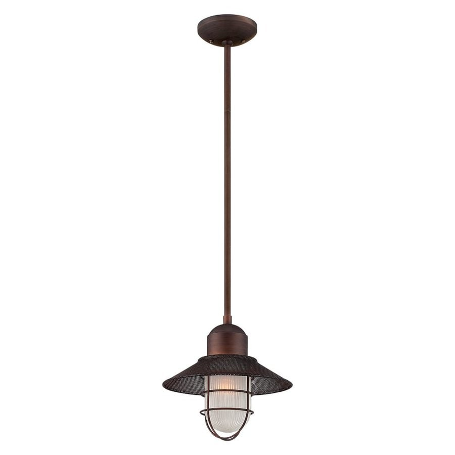 Millennium Lighting Neo-Industrial 10.5-in Bronze Barn Mini Etched Glass Warehouse Pendant