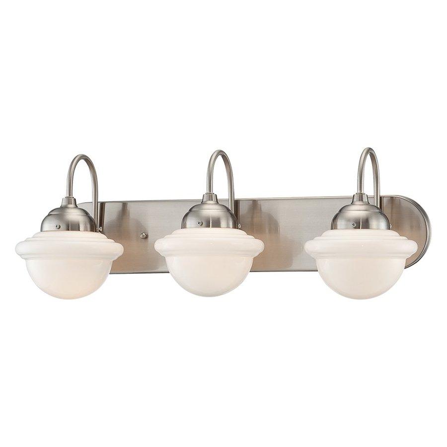 Millennium Lighting Neo-Industrial 3-Light 9-in Satin Nickel Schoolhouse Vanity Light