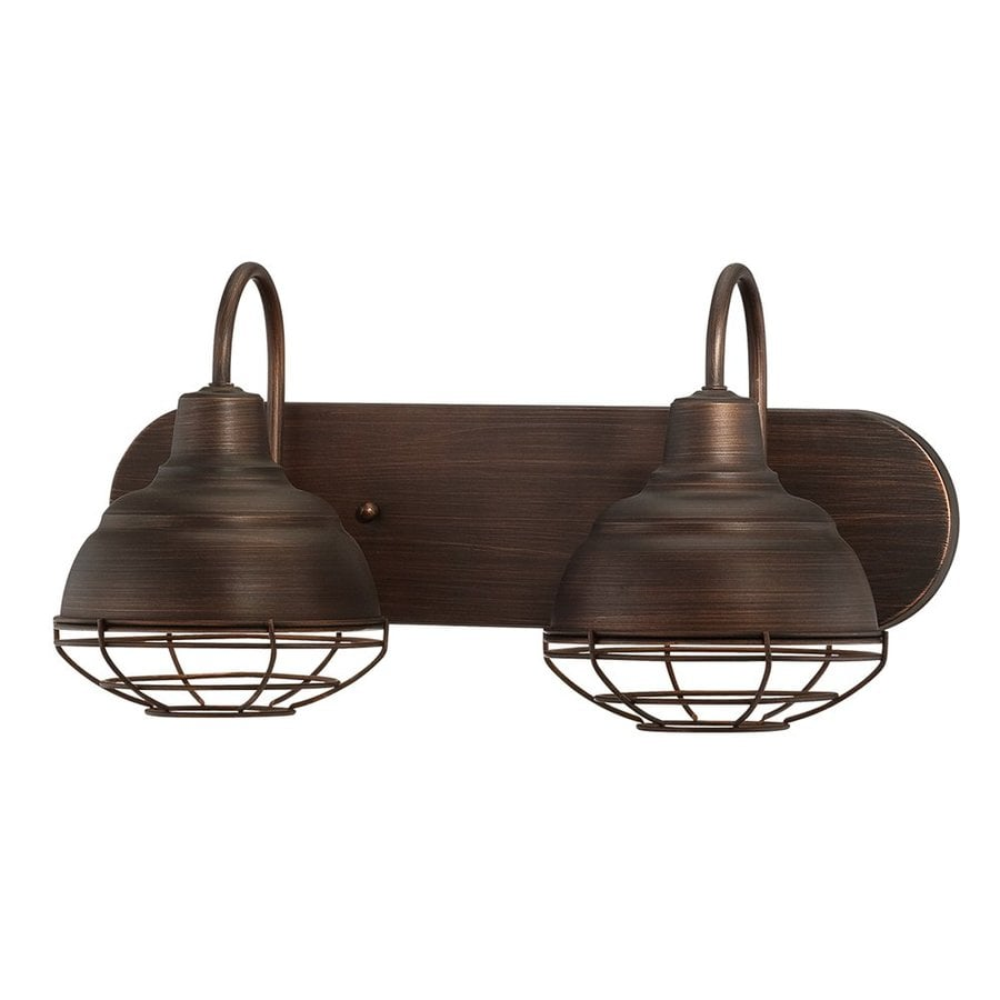 Bathroom Vanity Lights Brass: Shop Millennium Lighting 2-Light Neo-Industrial Rubbed