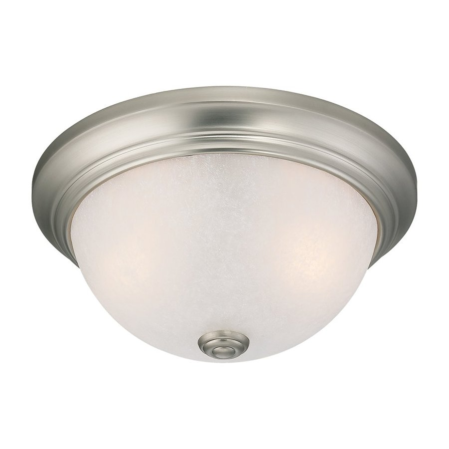 Millennium Lighting 11-in W Satin Nickel Ceiling Flush Mount Light