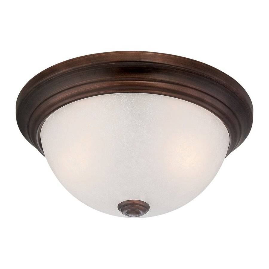 Millennium Lighting 13-in W Rubbed Bronze  Standard Flush Mount Light