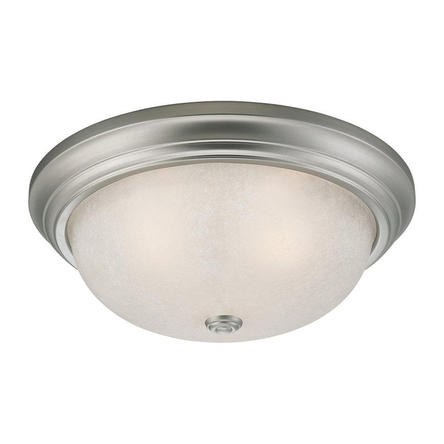 Millennium Lighting 13-in W Satin Nickel  Standard Flush Mount Light