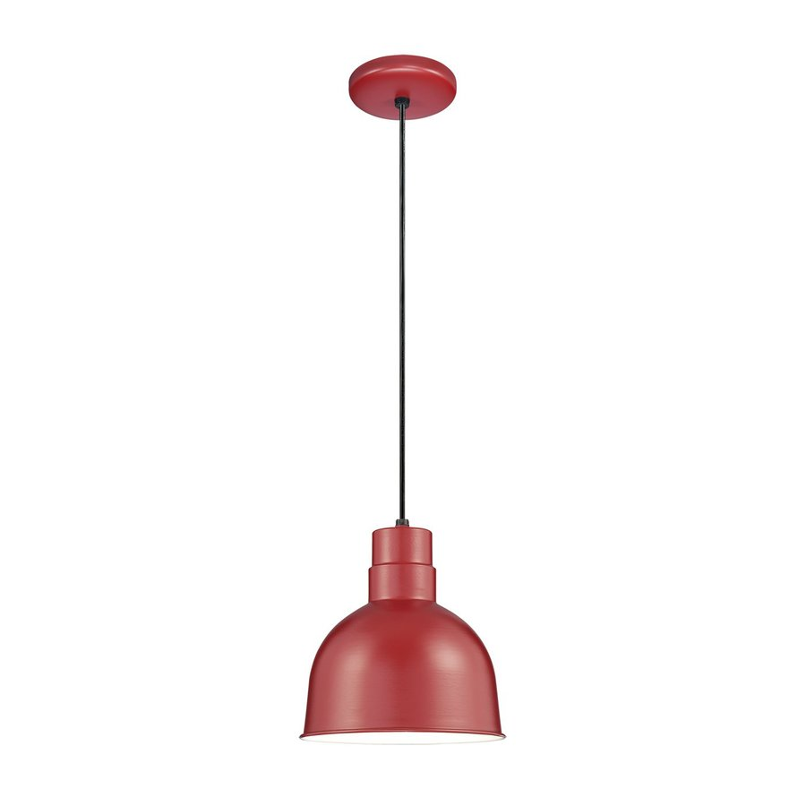 Millennium Lighting R Series 10-in Satin Red Barn Single Warehouse Pendant