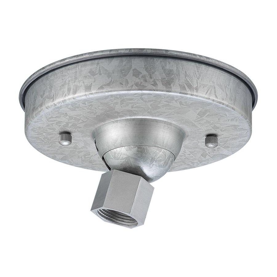Shop ceiling light mounts at lowes millennium lighting 55 in galvanized hanging light canopy arubaitofo Images