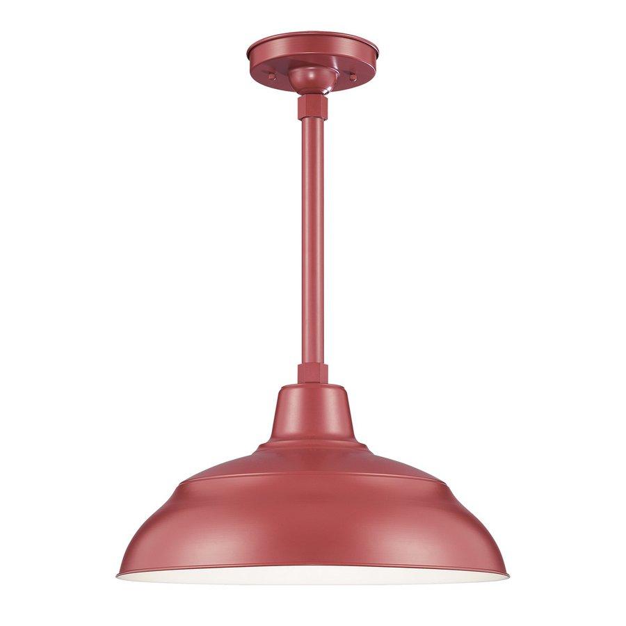 Millennium Lighting R Series 17-in Satin Red Barn Mini Warehouse Pendant