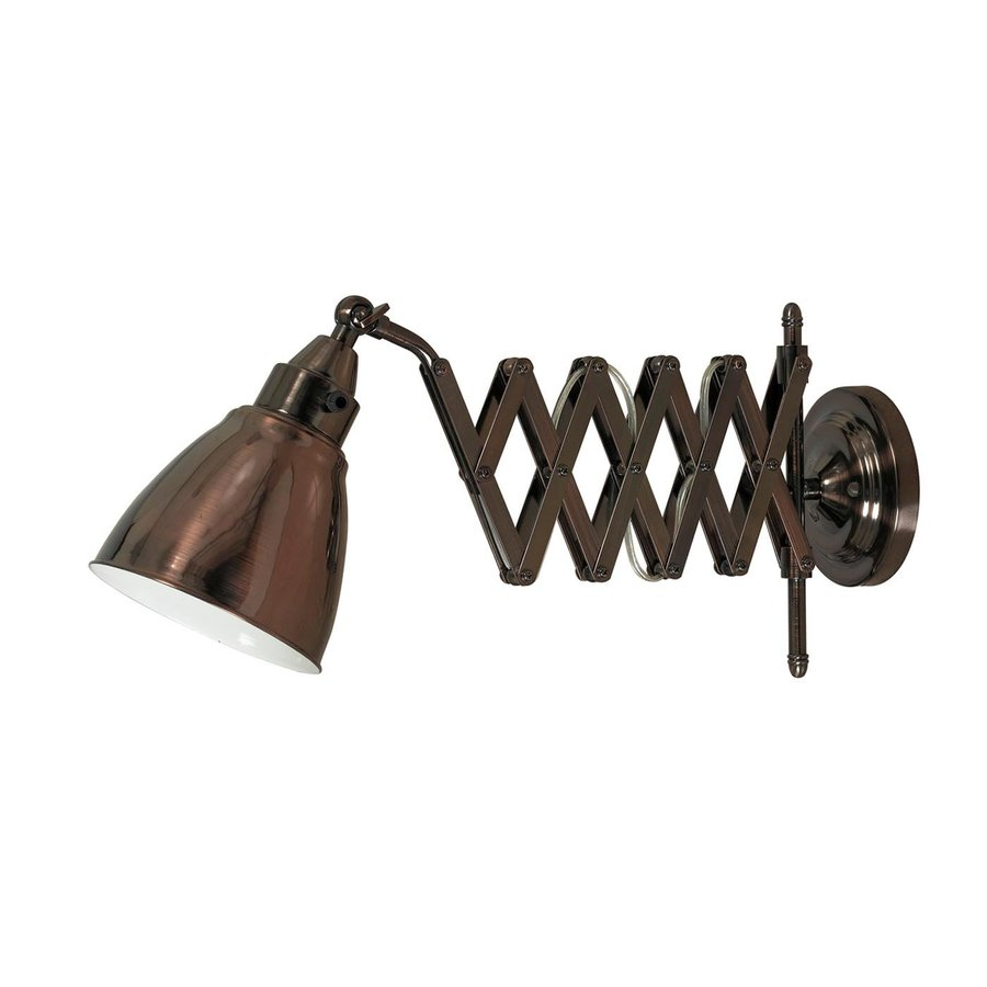 Wall Mounted Extension Lamp : Shop Kenroy Home 10-in H Copper Bronze Wall-Mounted Lamp with Metal Shade at Lowes.com