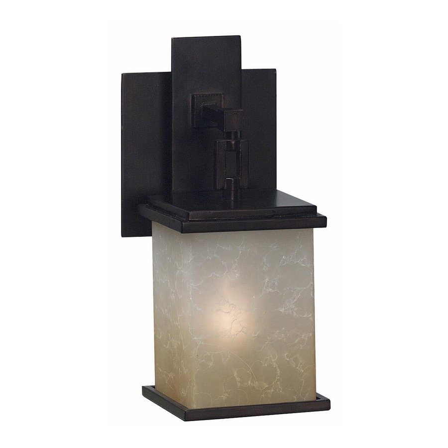 Kenroy Home Plateau 5-in W 1-Light Oil rubbed bronze Arm Wall Sconce