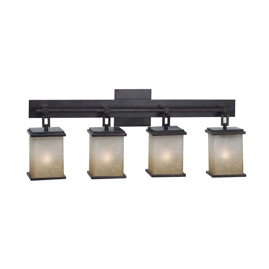 Kenroy Home Plateau 4 Light 29 In Oil Rubbed Bronze Lantern Vanity