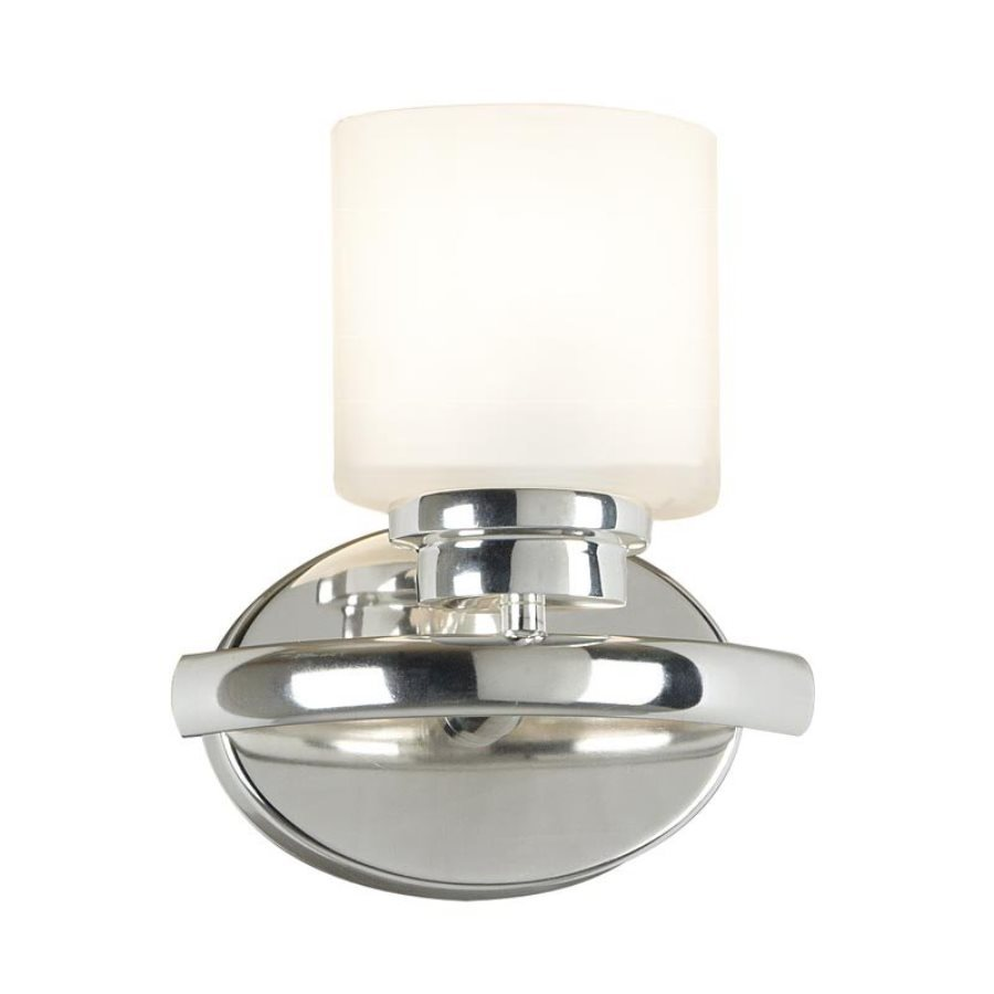 Kenroy Home Bow 8-in W 1-Light Polished Nickel Arm Hardwired Wall Sconce
