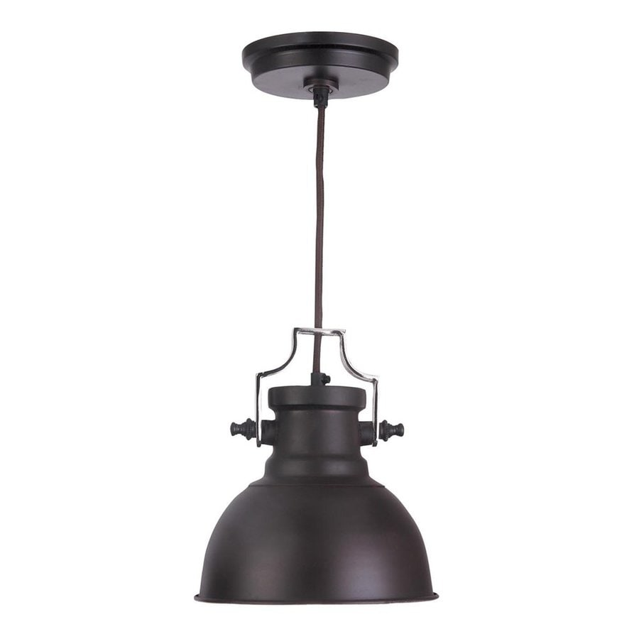 Kenroy Home Nautilus 8-in Antique Bronze and Nickel Industrial Mini Warehouse Pendant