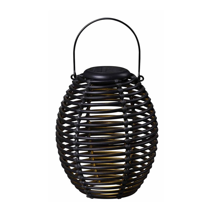 Kenroy Home 8-in x 9-in Black Resin LED Light Outdoor Decorative Lantern