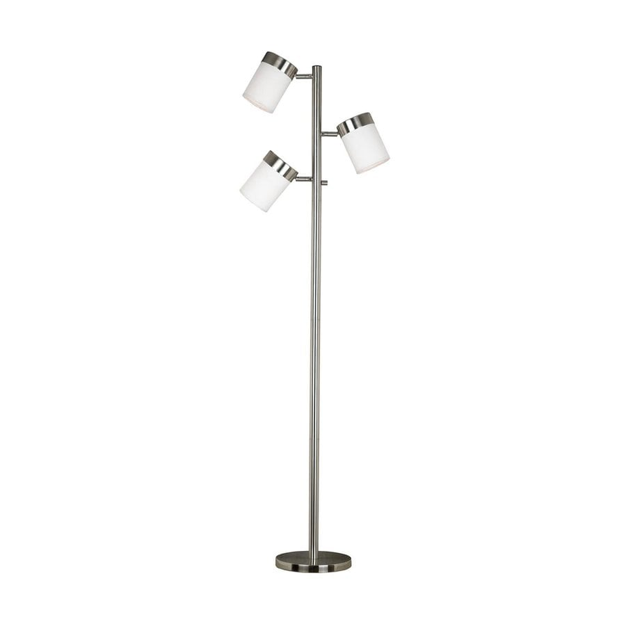 Kenroy Home Roarke 65 In Brushed Steel 4 Way Multi Head Floor Lamp
