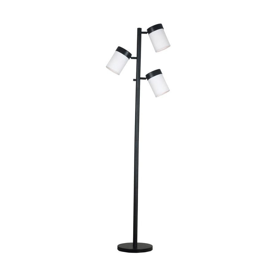 Kenroy Home Roarke 65-in Oil Rubbed Bronze 4-Way Multi-Head Floor Lamp with Glass Shade