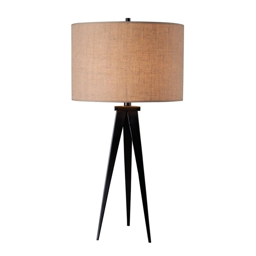 Kenroy Home Foster 29-in Oil rubbed bronze Plug-In 3-way Table Lamp with Fabric Shade