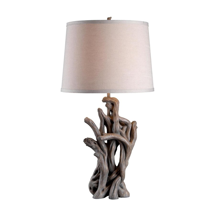 Kenroy Home Cast Away 29 In 3 Way Driftwood Table Lamp With Fabric Shade