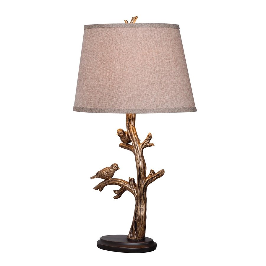 Kenroy Home 28-in 3-Way Bronze Table Lamp with Fabric Shade