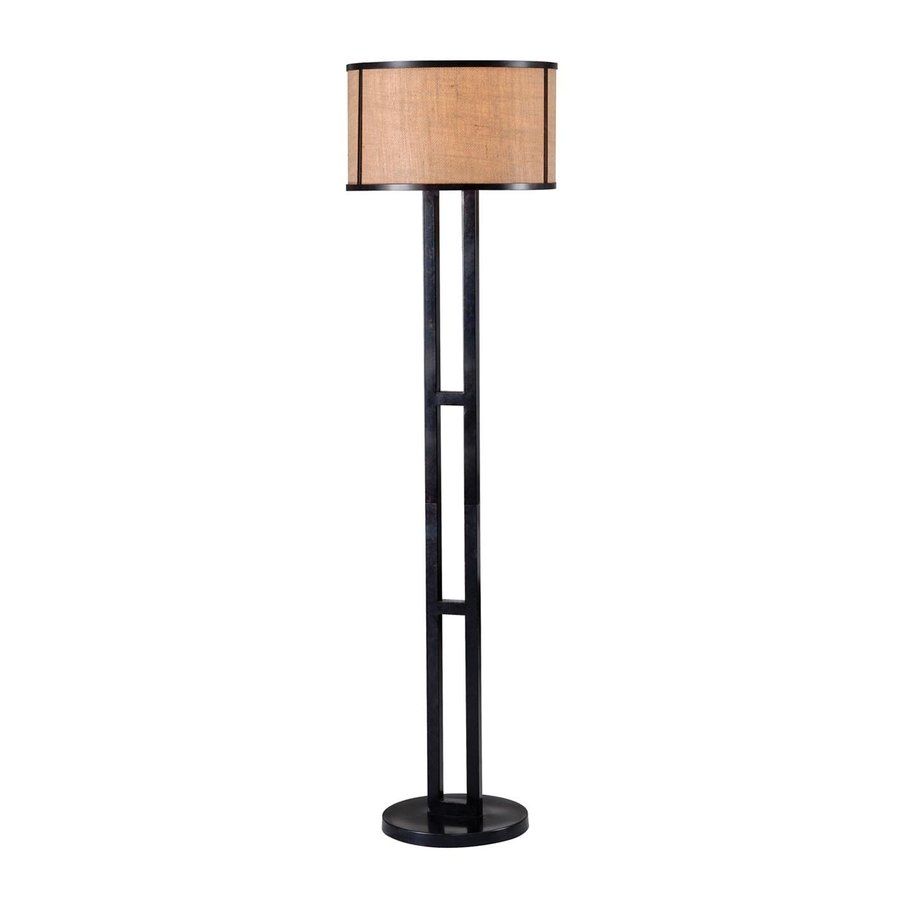 Kenroy Home Keen 57.5-in Bronze 4-Way Floor Lamp with Fabric Shade