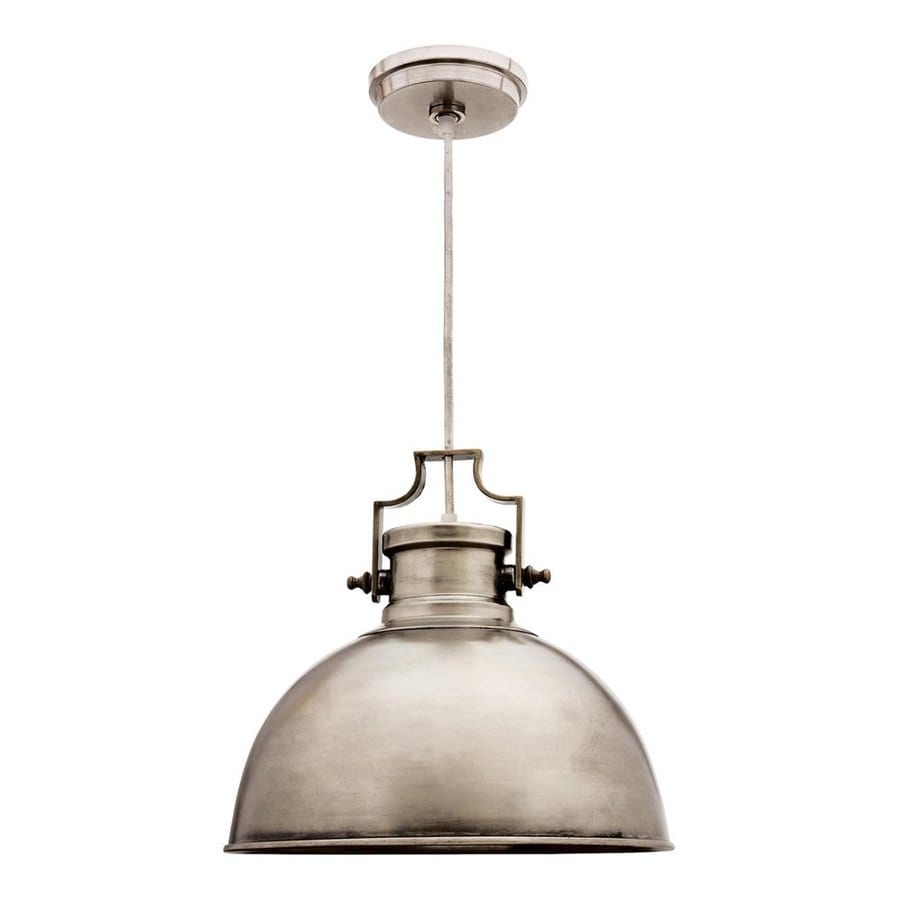 Kenroy Home Nautilus 14-in Antique Nickel Industrial Single Warehouse Pendant