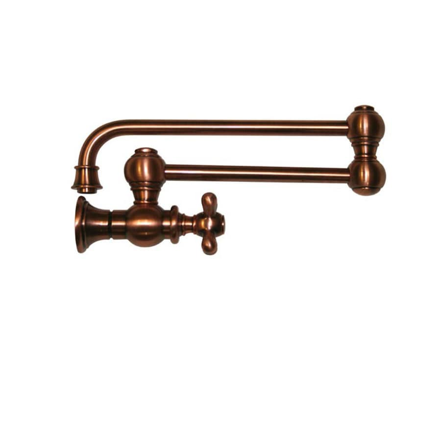 Whitehaus Collection Vintage III Antique copper 1-Handle Kitchen Faucet
