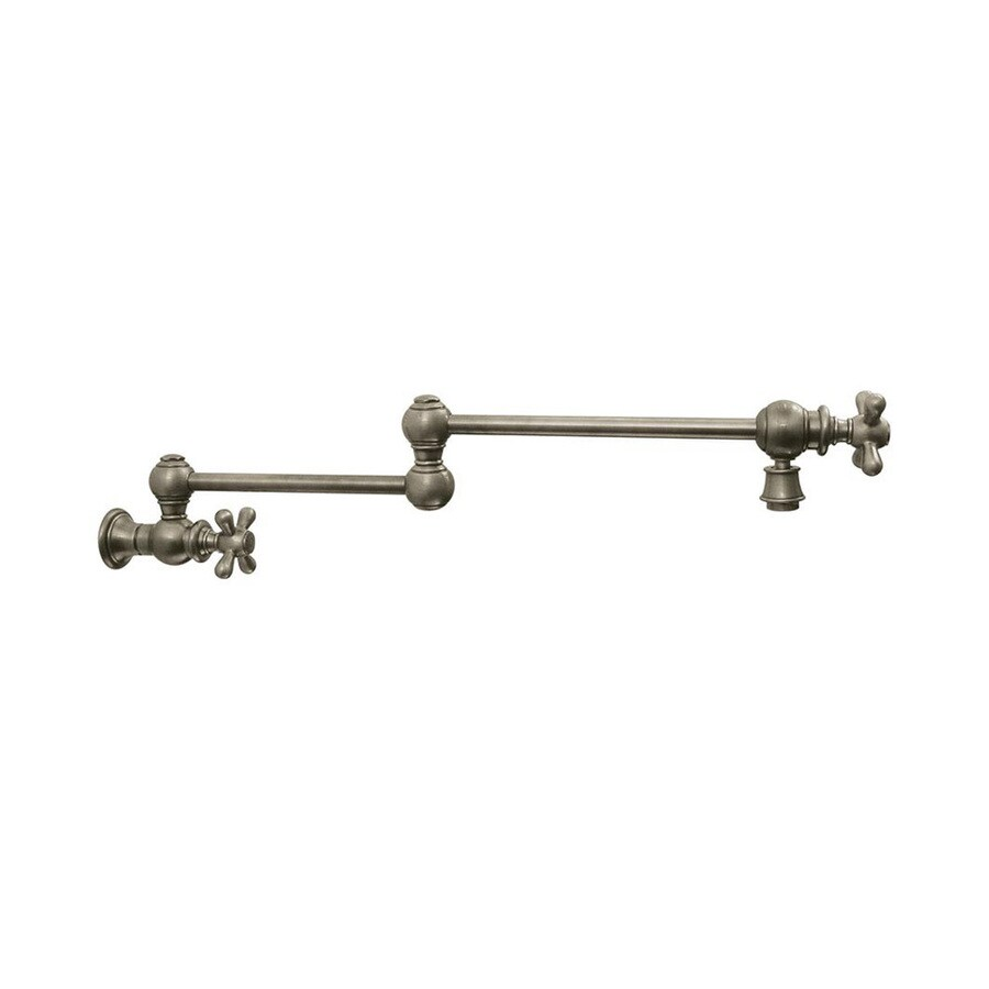 Whitehaus Collection Vintage III Brushed Nickel 1-Handle Bar Faucet