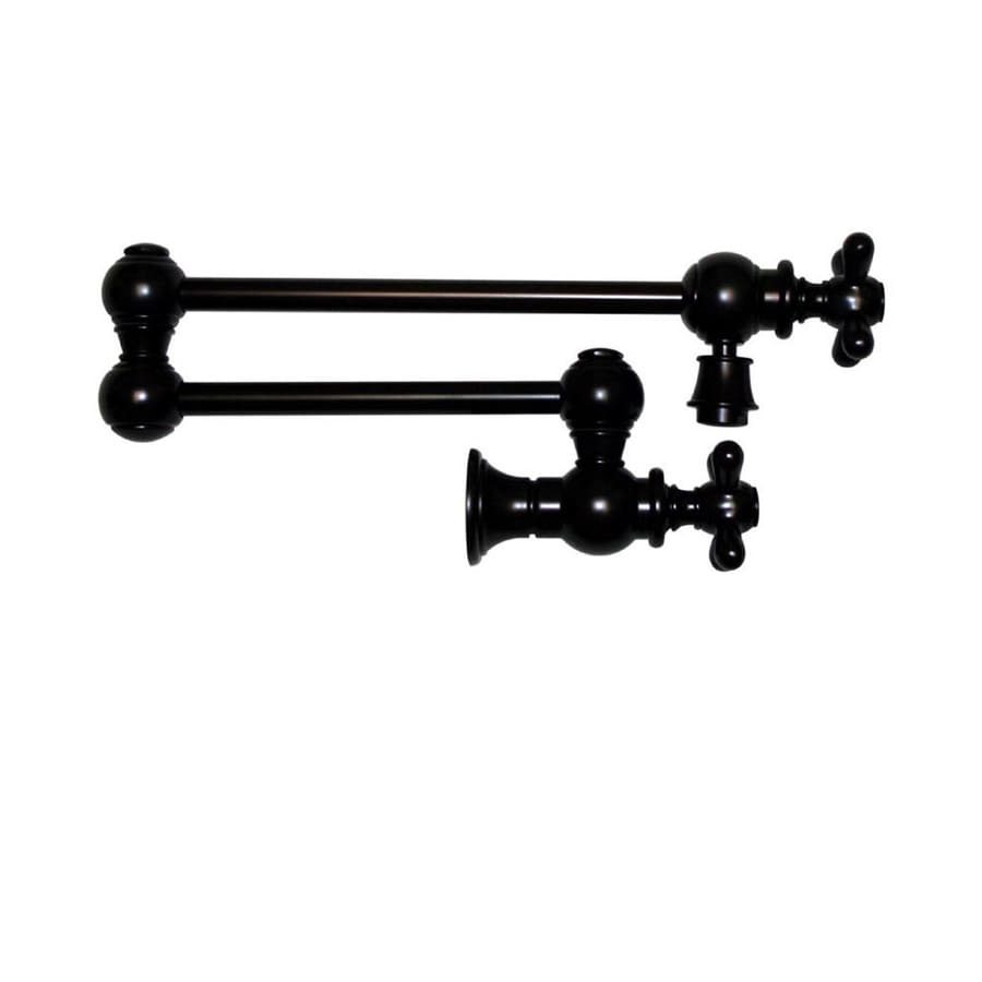 Whitehaus Collection Vintage III Oil Rubbed Bronze 1-handle Wall Mount Pot Filler Kitchen Faucet