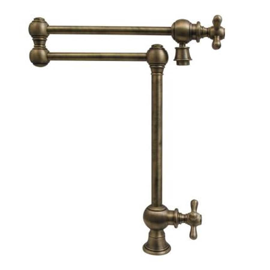 Whitehaus Collection Vintage III Antique brass 2-Handle Kitchen Faucet