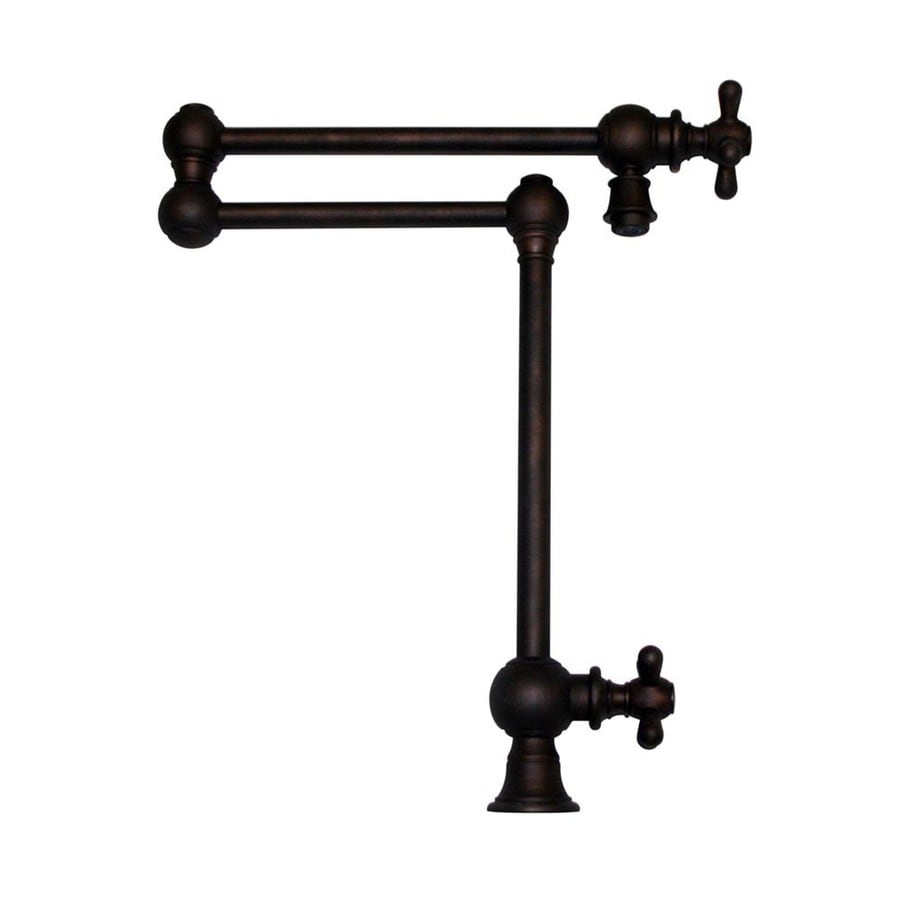 Whitehaus Collection Vintage III Mahogany Bronze 2-handle Deck Mount Pot Filler Kitchen Faucet