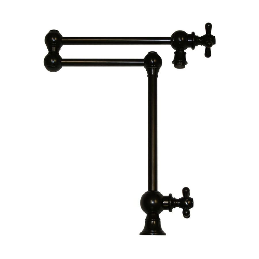 Whitehaus Collection Vintage III Oil Rubbed Bronze 2-handle Deck Mount Pot Filler Kitchen Faucet