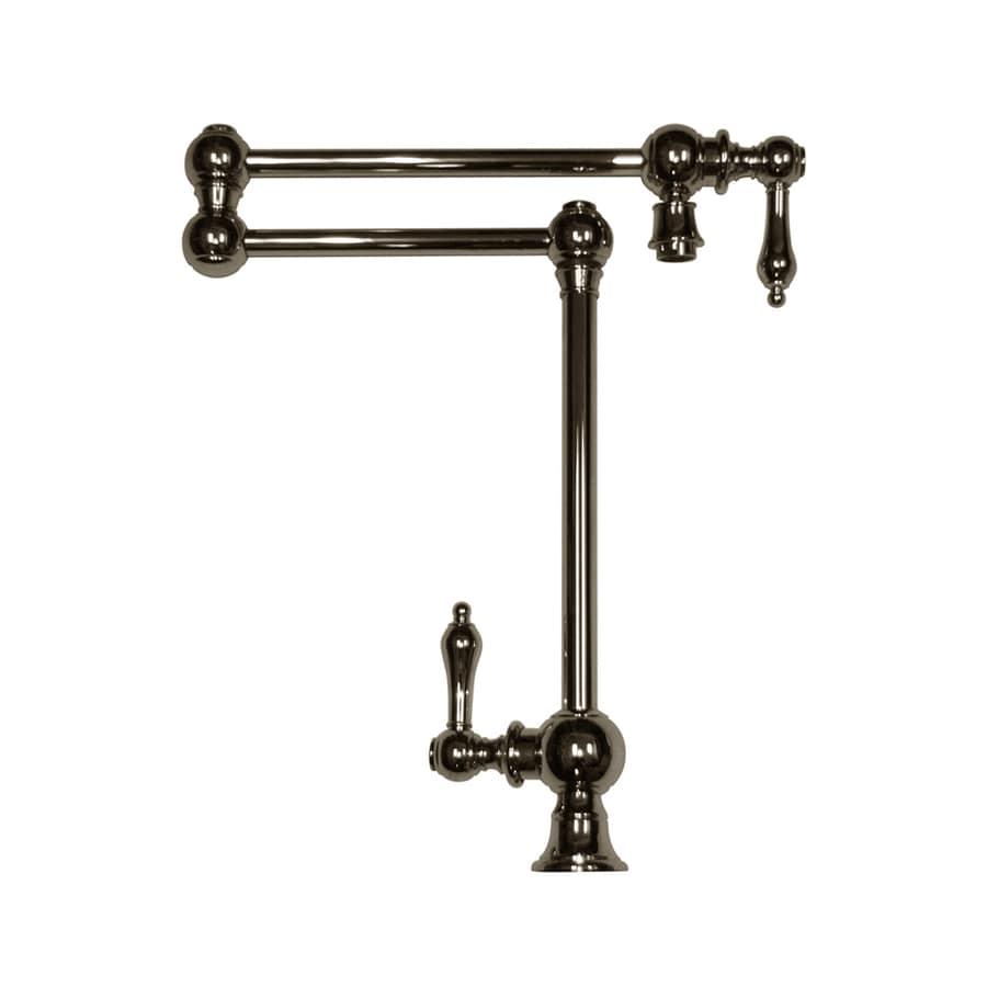 Whitehaus Collection Vintage III Polished Chrome 2-handle Deck Mount Pot Filler Kitchen Faucet