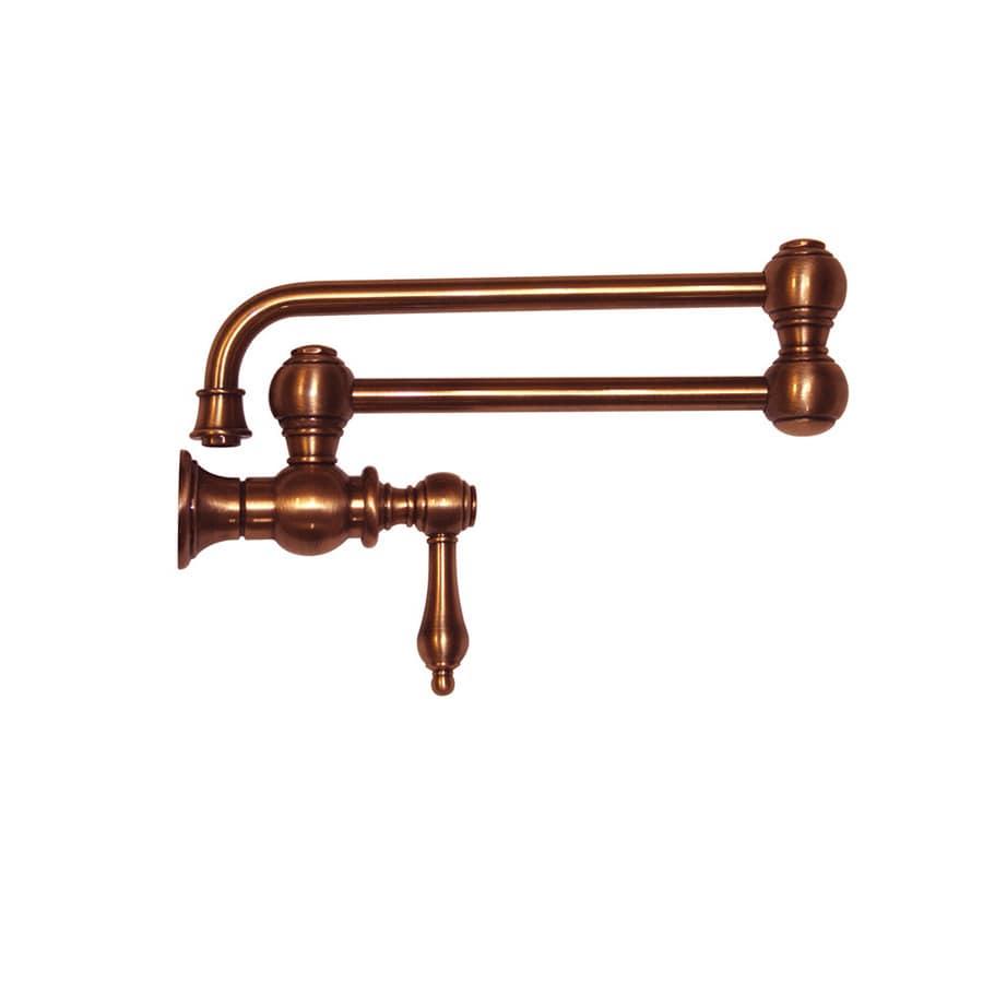 Whitehaus Collection Vintage III Antique copper 1-Handle Kitchen Faucet