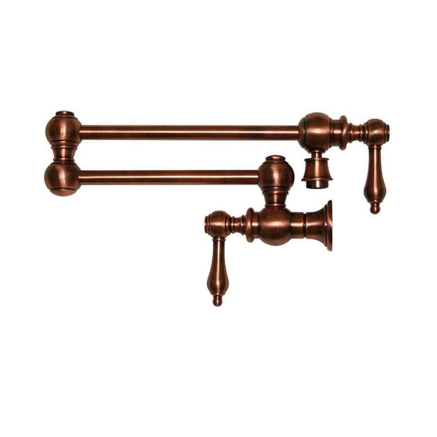 Whitehaus Collection Vintage III Antique Copper 2-Handle Bar Faucet